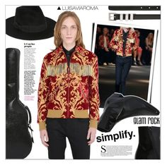 """""""Glam Rock"""" by luisaviaroma ❤ liked on Polyvore featuring Yves Saint Laurent, men's fashion and menswear"""
