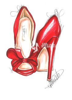 La mode des talons rouges illustration par DorinusIllustrations