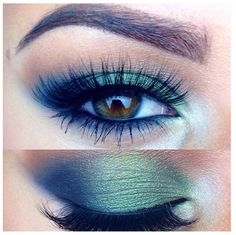 Bright eyeshadow done right! Not too much liner makes it perfect