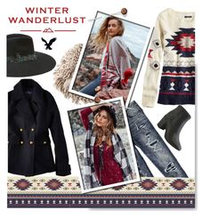 """Winter Wanderlust with American Eagle: Contest Entry"" by serepunky ❤ liked on Polyvore featuring American Eagle Outfitters and aeostyle"