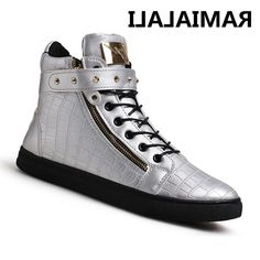 awesome Tendance Basket 2017 - 27.49$  Buy here - alitems.com/... - Ramialali Brand Men Casual Shoes High Top L... Check more at https://listspirit.com/tendance-basket-2017-27-49-buy-here-alitems-com-ramialali-brand-men-casual-shoes-high-top-l/