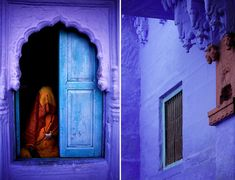 """Jodhpur, India is nicknamed """"The Blue City"""". So many gorgeous colours used in that country. I love this purple!"""