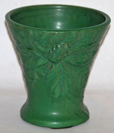 Weller Pottery, Orris shape, matte green glaze