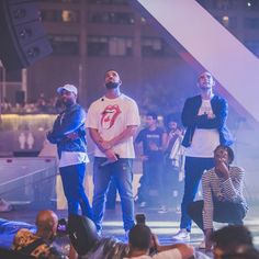 Drake, @dvsndvsn, @RoyWoods, and @majidjordan at #Canada150@tsedanielphotography