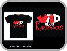 Wild about Razorbacks, Razorback fan shirt, Arkansas fan shirt, Razorback shirt…