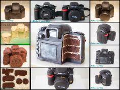 Marlene's sweet things: Its a Nikon / Nikon cake / camera cake / tutorial