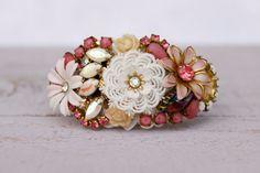 Vintage Bridesmaids Corsage Bracelet Bridal by FrenchAtticDesign
