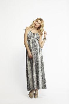 Black Snakeskin Maternity Dress - love the snake print!