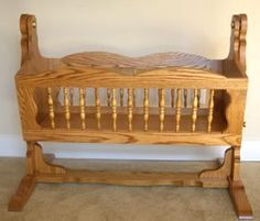 wood baby cradle plans #diy