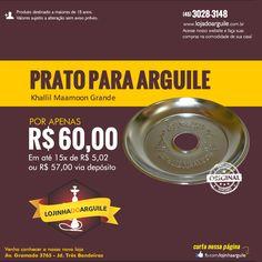 Prato Khallil Maamoon Grande  POR APENAS $ 60,00 Em até 15x de R$ 5,02 ou R$ 57,00 via depósito Compre Online: http://www.lojadoarguile.com.br/prato-khallil-maamoon-grande