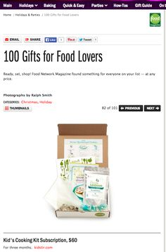 #82 in Food Network Magazine's Holiday Gift Guide!