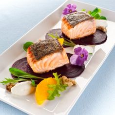 This stylish dish is a beautiful way to present crispy skin salmon. You can add some colour to your meal with this fresh and health recipe!