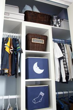 Love this--but use a billy bookcase in middle, and I want shelves above the rods on the bottom.