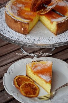 Crostata di ricotta - local specailty - a richly baked cheesecake, made with ricotta, and flavored with lemons (or oranges) and Marsala wine Sweet Recipes, Cake Recipes, Dessert Recipes, Italian Desserts, Italian Recipes, Italian Dishes, Delicious Desserts, Yummy Food, Yummy Cakes