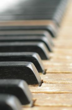 Old piano, perspective