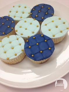 Royal Blue Cupcakes by Sarah's Bakery