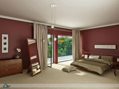 Delightful Burgundy And Gold Contrast Bedroom   Free Interior House Design Pictures,  Images, Photos And Articles