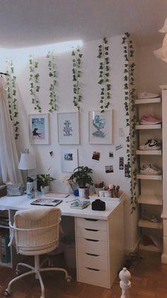 Cute Room Ideas, Cute Room Decor, Box Room Bedroom Ideas, Room Decor Bedroom, Study Room Decor, Indie Room, Aesthetic Room Decor, Cozy Room, My New Room
