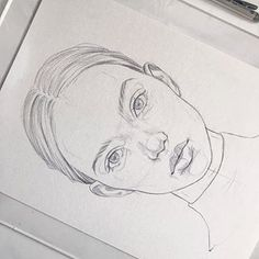 Sketch By Reina Yamada. Reina Yamada is an artist who works actively in Japan. Continue Reading and for more art → View Website Drawing Tips, Drawing Reference, Drawing Sketches, Painting & Drawing, Easy Portrait Drawing, Pencil Art Drawings, Easy Drawings, Arte Sketchbook, Face Sketch