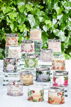 Premium fragrance meets the finest quality wax in all our candles. Choose the Jar Candle for a fragrance experience like no other, with exceptional throw and long burn time of hours. Spring One, Summer, Raspberry Rhubarb, Candle Jars, Candles, Pink Grapefruit, Wicked, Berries, Verano