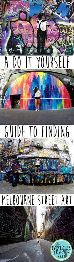 A simple and easy guide to finding Melbourne street art. Best of all it's completely free! Books Australia, Australia Tourism, Visit Australia, Melbourne Australia, Queensland Australia, Melbourne Travel, Melbourne Street, New Travel, Travel Alone