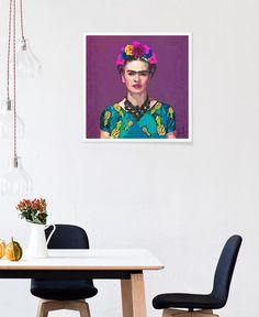 Trendy Frida Kahlo en Affiche premium par Xchange Studio | JUNIQE