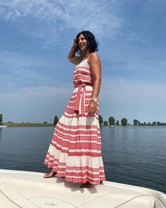 Devotion Twins #embroidery #bohostyle #summeroutfit Ootd Fashion, Fashion Addict, Summer Outfits, Summer Dresses, On Repeat, White Maxi Dresses, Outfit Posts, What I Wore, Off White