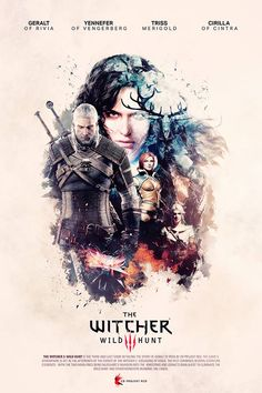Awesome #Witcher 3 Poster by Koke Núñez Gómez‎