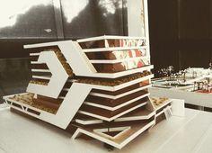 Architectural Model and miniature Concept Models Architecture, Architecture Model Making, Education Architecture, Futuristic Architecture, Amazing Architecture, Art And Architecture, 3d Modelle, Pop Design, Facade Design