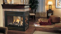 Beautiful! Love this 3-sided Regency fireplace.