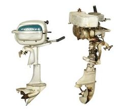 Lot Of 2: Johnson And Evinrude Outboard Boat Motors.
