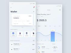 Finance &Wallet App designed by Hippie Mao. for DCU. App Ui Design, User Interface Design, Web Design, App Design Inspiration, Design Guidelines, Ui Web, Business Design, Hippy, Finance