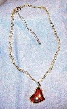 Avon ~ Large Goldtone Heart on Multi-Strand Chain ~Signed ~ NOS ~  NEW in BOX   #Avon #Pendant #heart #discontinuedAvon #vintage #jewelry #necklace #multistrand #eBay #bestoffer #freeshipping