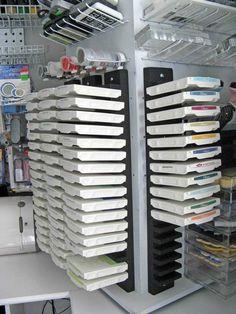 Ikea dvd storage = ink pad storage     I wonder if something else would work, tho?