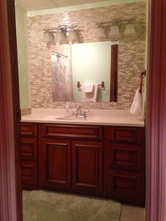 """""""Used this product as part of my bathroom renovation. I love it's ease of use. I love the final product. Looks awesome!!!"""" Model: Bellagio Sabbia. http://www.thesmarttiles.com/en_us/bellagio-sabbia/ #ReviewsSayItAll"""