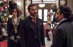 Jeremy Piven and Katherine Kelly and Aidan McArdle in Mr Selfridge