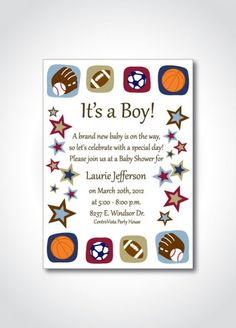 Baby Shower: Sport Themed Baby Shower Invitations To Make Your Remarkable Baby…