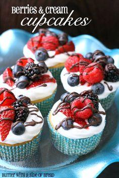 Berries & Cream Cupcakes