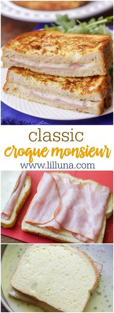 How To Make Tortilla Chips Easy Croque Monsieur - A Baked Or Fried Boiled Ham And Cheese Sandwich That Is Delicious Soup And Sandwich, Sandwich Recipes, Lunch Recipes, Dinner Recipes, Sandwich Board, Salad Sandwich, Kitchen Recipes, Cooking Recipes, Creamy Pasta Bake