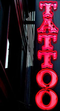 Tattoo Granville by Randall Weidner Chicano, Granville Street, Tattoo Zone, Retro Signage, Neon Words, Glam Room, Neon Glow, Light Art, Tattoo Shop
