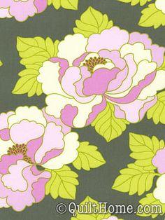 Lottie Da PWHB041-Charcoal Fabric by Heather Bailey