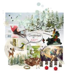 """""""Christmas in July"""" by seasidecollectibles ❤ liked on Polyvore featuring Clips, H&M and vintage"""