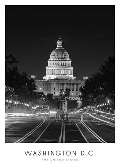 Washington Poster in the group Prints / Maps & cities at Desenio AB Black And White Photo Wall, Black N White Images, Poster Wall, Poster Prints, Maps Posters, Chicago Poster, Buy Posters Online, Map Of New York, White Aesthetic