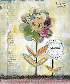 Grow-True-Bloom-Wild-print-prints-Kelly-Rae-Roberts-Ready-to-Frame-matted-signed