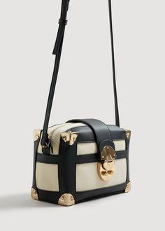 Bicolor coffer bag   MANGO