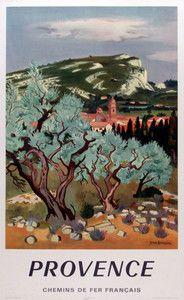 FRANCE VINTAGE TRAVEL POSTER Provence