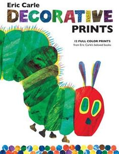 Set of decorative prints from Eric Carle. Great to decorate the nursery or use for a birthday party.