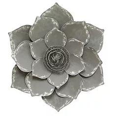 Stratton Home Decor Metal Lotus Flower Wall Decor Metal Flower Wall Decor, Floral Wall Art, Metal Flowers, Paper Flowers, Metal Roses, Metal Wall Panel, Metal Walls, Metal Wall Art, Medallion Wall Decor