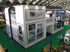 Exhibition Stand: This double dexk stand was designed, built and installed for Hill & Smith at the 2014 Intertraffic event in Amsterdam www.ddex.co.uk