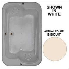Watertech Whirlpool Baths 71.5-In L X 44.5-In W X 25.375-In H Biscuit